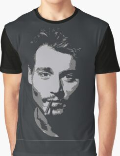 Johnny Depp - Greyscale  Graphic T-Shirt
