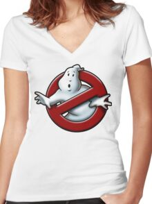 Who ya gonna call? Women's Fitted V-Neck T-Shirt