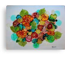Colorful Unique Original Floral Design! Canvas Print