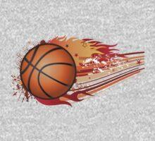 Basketball in fire Kids Tee