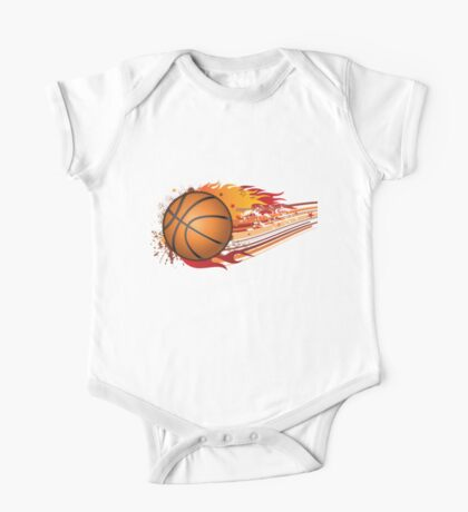 Basketball in fire One Piece - Short Sleeve