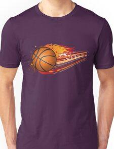 Basketball in fire Unisex T-Shirt
