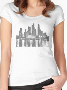 New york sky line Women's Fitted Scoop T-Shirt