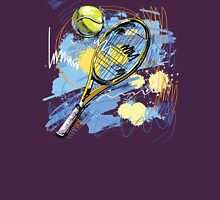 Hand drawn with graffiti tennis sport Unisex T-Shirt