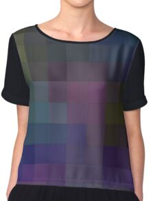 Pixelated colours Chiffon Top