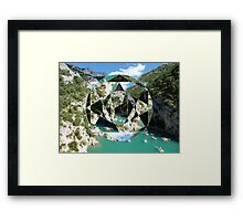 puzzle river Framed Print