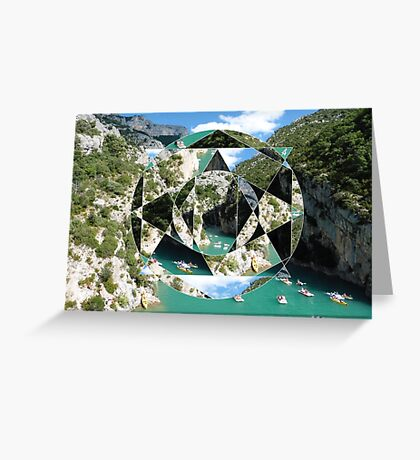 puzzle river Greeting Card