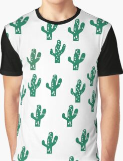 Cactus Pattern Funny Print Graphic T-Shirt