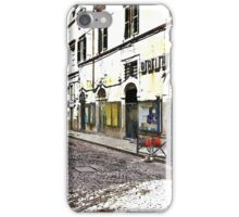 L'Aquila: street buildings and shops iPhone Case/Skin