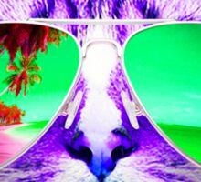 CAT WEARING SUNGLASSES CHECK MEOWT CATS BEACH TROPICAL GRUMPY OCEAN MEOW KITTEN KITTY SUN GLASSES Sticker