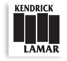 Kendrick Lamar Black Flag Canvas Print