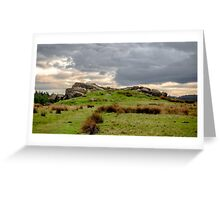 Geological rock formations Greeting Card