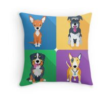dog icon flat design  Throw Pillow