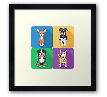 dog icon flat design  Framed Print
