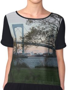 Just Over The Bay Women's Chiffon Top