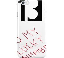 Number 13  iPhone Case/Skin
