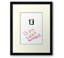 Number 13  Framed Print