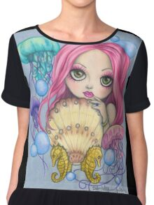 Amora, the Jellyfish Whisperer Chiffon Top
