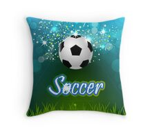 Soccer creative poster Throw Pillow