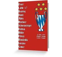 Bayern Munich 2013 Champions League Winners Greeting Card