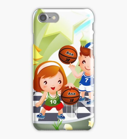 Basketball sport kids art iPhone Case/Skin