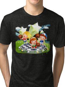Basketball sport kids art Tri-blend T-Shirt