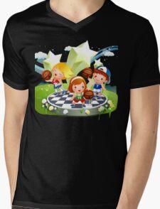 Basketball sport kids art Mens V-Neck T-Shirt