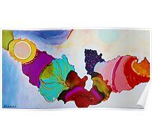 Colorful Unique Original Artist's abstract Design! Poster