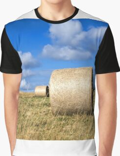 Hay bales in a field in Wiltshire, United Kingdom Graphic T-Shirt