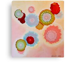 """""""Floating Blooms"""" - Colorful Unique Original Artist's Floral Design! Canvas Print"""