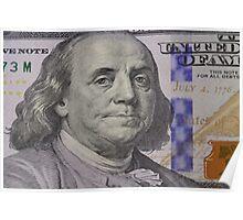 Franklin portrait on banknote Poster