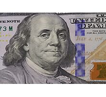 Franklin portrait on banknote Photographic Print
