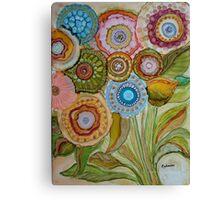 """""""Whimsical Bouquet"""" -Colorful Unique Original Artist's Floral Design! Canvas Print"""