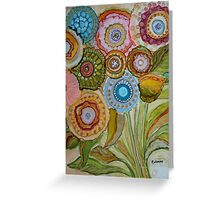 """Whimsical Bouquet"" -Colorful Unique Original Artist's Floral Design! Greeting Card"