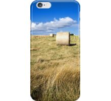 Hay bales in a field in Wiltshire, United Kingdom iPhone Case/Skin