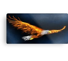 Flame Eagle Metal Print