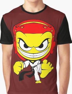 Angry Taekwondo Smiley Kyorugi Fighter Korean Martial Art Graphic T-Shirt