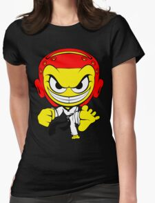 Angry Taekwondo Smiley Kyorugi Fighter Korean Martial Art Womens T-Shirt