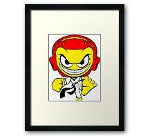 Angry Taekwondo Smiley Kyorugi Fighter Korean Martial Art Framed Print