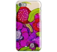 """Thanks for the Flowers"" - Colorful Unique Original Artist's Floral Painting! iPhone Case/Skin"