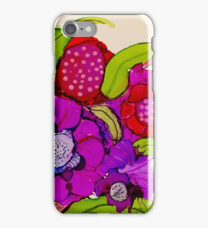 """""""Thanks for the Flowers"""" - Colorful Unique Original Artist's Floral Painting! iPhone Case/Skin"""