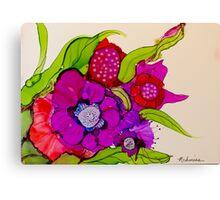 """Thanks for the Flowers"" - Colorful Unique Original Artist's Floral Painting! Canvas Print"