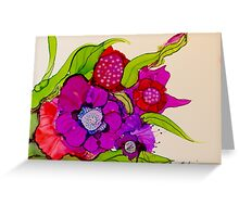 """Thanks for the Flowers"" - Colorful Unique Original Artist's Floral Painting! Greeting Card"
