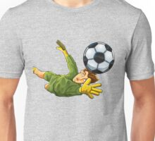 Goalkeeper jump to ball Unisex T-Shirt