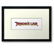 Dragons Lair - Logo Framed Print