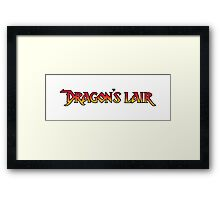 Dragons Lair - Logo Framed Print