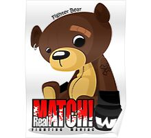 Fighter Bear Tedy Doll can Fight MMA Bear Fighter Shirt Mix Martial Art Poster