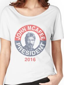 Vintage John McAfee for President 2016 Women's Relaxed Fit T-Shirt
