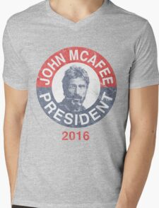 Vintage John McAfee for President 2016 Mens V-Neck T-Shirt