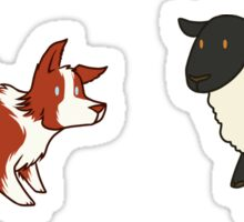 Come Bye - Red dog and black sheep Sticker